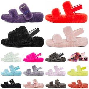 kürk bulanık kabartmak evet slaytlar sandalet mens kış evi 36-44 terlik WGG Tasarımcı kürklü terlik moda Avustralya kadınlar kürk kabarık slaytlar