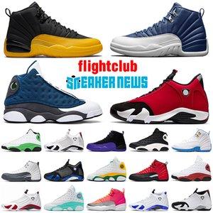 nike air jordan retro 12s 13s 14s off white shoes JUMPMAN Steinblau Männer Basketballschuhe Universität Gold Flint GYM RED Reverse Grippespiel Frauen Trainer Outdoor Sportschuhe