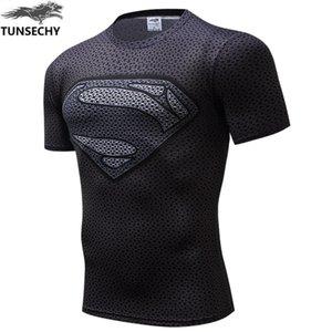 NOVO TUNSECHY spiderman, batman superman guerra 2020 é sportswear apertado T-shirt lycra compressão apertadas camisetas t-shirt dos homens