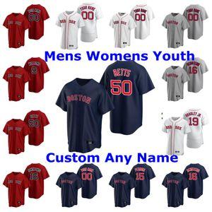 2020 Carl Yastrzemski Boston Red Matt Barnes JD Martinez Rafael Devers Tom Brady Wade Boggs Marine SOX Weiß Baseball-Shirts Individuelle genähtes
