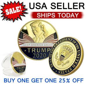 Keep America Great 2020 Donald Trump Памятная монета Американский президент Золотые монеты Серебряные Знак Металл Craft Collection Республиканское AHC261