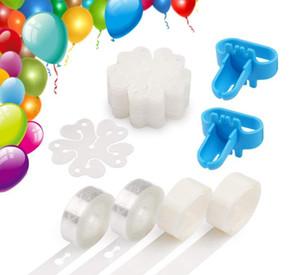 Украшать Strip Kit для Arch Garland шар ленты Газа Шнуровка Инструмент Dot Клей Ballon Цветок клип для партии Свадьба День рождения Xmas DWE202