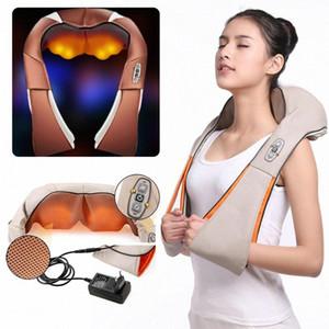 Massagem Elétrica Shiatsu Pescoço Ombro infravermelho aquecida amassar Massageador Car / Home For Health Care QtYz #