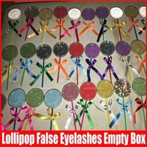 Lollipop Forme Lashes emballage Boîte Boîtes Cils 3D Mink Faux Cils Faux Emballage étui vide Shimmer Cils Boîte Conditionnement