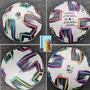 Top Qualität Körbchengröße 4 Fußball 2020 Finale KIEW PU Größe 5 Bälle Granulat rutschfester Fußball Frei hochwertige Kugel Versand