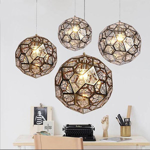 Modern Copper Etch Web Brass Metal Pendant Lamp Hotel Home Living Room Dining Room Bedroom Decor Fixture PA0075