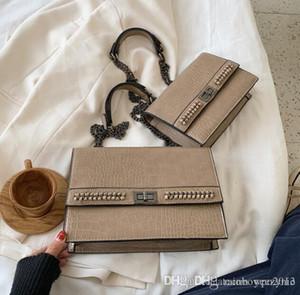 bag donne Designer Outlet borsa borsa semplice modello coccodrillo catena borsa grande in pelle di coccodrillo del messaggero le donne retrò in pelle spalla