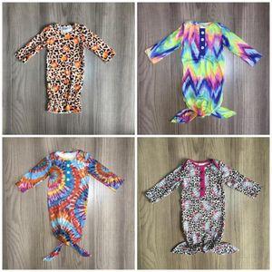 Girlymax ملابس الاطفال حديثي الولادة طفل ثوب الفتيات بوتيك الملابس الدعاوى القطن ثوب النوم رومبير طويلة الأكمام التعادل مصبوغ اليقطين