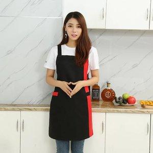 önlükleri LOGO antifouling iş elbiseleri pişirme önlük kadın Ev dükkanı ve kuaför Kolsuz çalışma önlük için mutfak önlükleri