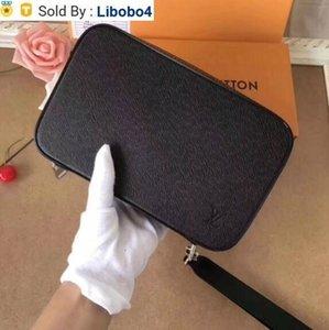 libobo4 2019 M64207 MEN CANVAS LEATHER CLUTCH WALLET PURSE BAG WALLETS PURSE Mini Clutches Exotics EVENING CHAIN Belt Bags