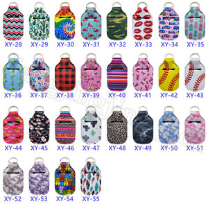 Neoprene Hand Sanitizer Bottle Holder Keychain Bag 30ML Bottle Holder Key Ring Chapstick Holder RTS Perfume Bottle Cover OOA8277