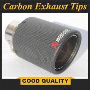 1PCS مدخل (63MM) العادم المخرج (89mm) Akrapovic الكربون تلميح / الخمار الأنابيب لشركة فولكس فاجن لزينة السيارات h6yc #