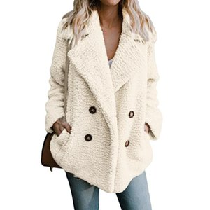 Women's Autumn and Winter Woolen Coat Women Long-sleeved Lapel Suit Jacket Ladies Loose Casual Large Size Long Cardigan Coats