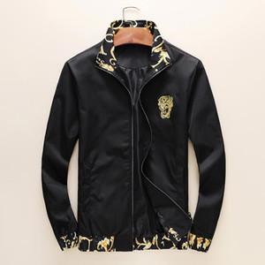 Veste de mode coupe-vent manches longues vestes pour hommes Hoodie Vêtements Zipper avec motif animal Lettre Taille Plus Vêtements M-3XL F1