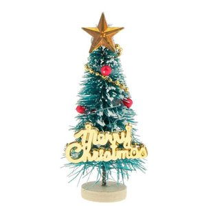 """New 1: 12 Dollhouse Miniature Christmas Tree """"Merry Christmas"""" Letters Board Wooden Stand Decoration"""