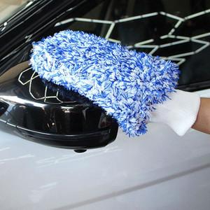 Doux Nettoyage absorbancy voiture Gants Auto Detailing Microfibre Débarbouillette voiture Brosse de nettoyage lavage MiNo perte de cheveux serviette zsyi #