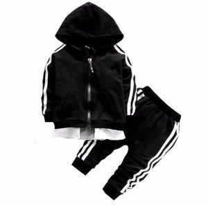 2020 Spring Baby Casual Tracksuit Children Boy Girl Cotton Zipper Jacket Pants 2Pcs Sets Kids Leisure Sport Suit Infant Clothing