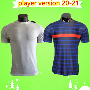Player version 2020 MBAPPE GRIEZMANN POGBA men 2 stars white Soccer jersey 20 21 Navy LEMAR 2020 2021 football shirts maillot de foot