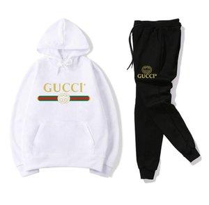 Yüksek kaliteli sıcak satış Kadınlar Günlük Moda bahar Uzun kollu İki parçalı Hoodies Kazak + Pantolon Jogger Seti Bayanlar Güz Eşofman erkekler takım elbise