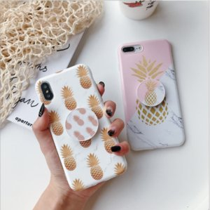 NEW 2020 PINEAPPLE PRINT TWO COLOURS 100% TPU CUTE DESIGN DIR-RISTANT AND FULL BODY PROTECTORE FOR IPHONE 6-XR FREE SHIPPING