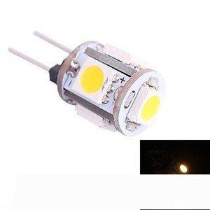 casa levou G4 chegada 12V G4 Cool White 5 LED LIGHT 5050 SMD Gabinete Camper Bulb Globe Boat Garden