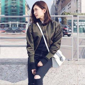 las mujeres cortas de la estrella Jiang Shuying béisbol chaqueta mismo estilo temprano Newgreen otoño traje de béisbol de la capa del cortocircuito de la chaqueta de piloto de la moda