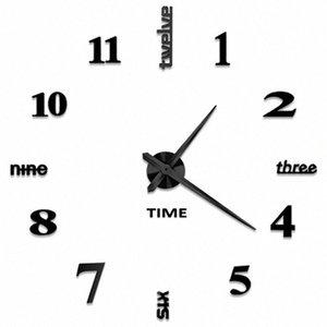 CSS Diy Relógio de parede, Espelho 3D Adesivos Grande Relógio de parede Frameless design moderno Relógio Grande silencioso Home / Office / Escola Número C VuAu #