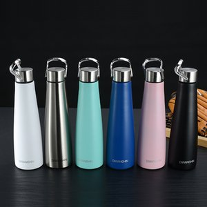 500ML Cola Shaped Bottle with Handle Stainless Steel Water Bottle Double Wall Insulated Vacuum Flask leakproof Bottle Sea Shipping LJJO8202