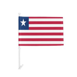 Car Window flag of Liberia, National Hanging 30x45cm Digital Printing Polyester Fabric , Outdoor Indoor Usage, Support Drop shipping