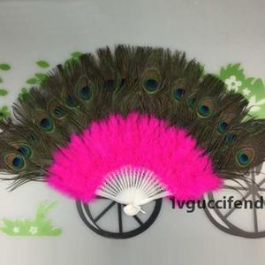 Peacock Feather Fans Belly Dance Fan Dance Fans Party Favors for Women Stage Performance Favors Supplies 37*60cm 11color