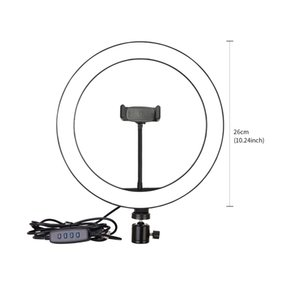 Photography 6 8 10 Inch Table LED Light Ring Lamp Youtube Video Live 3500-5500k Photo Studio Makeup Desk Selfie Ring Light