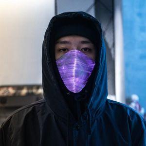 LED Anti Toz Parlak USB Şarj Maskeler Maske Maske Break Dance DJ Müzik Parti Cadılar Bayramı için 7 Renk Değiştirilebilir