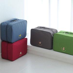 Bagagem Packing Organizer Kit de viagem Mesh Bag In Bag bagagem Organizer Embalagem Cosmetic Bag Organizador para a roupa T200710