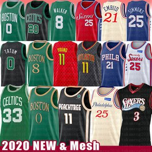 Trae Allen 3 Jovem Larry Iverson Pássaro Basketball Jersey Joel Ben Embiid Simmons Falcão Kemba Walker Jayson Tatum Jaylen Horford Brown Hayward