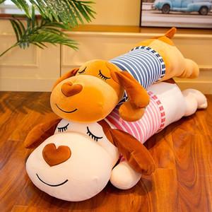 Simanfei Симпатичные собаки Подушка Мягкие Плюшевые игрушки куклы Декоративные подушки для кровати Hug Путешествия Длинные Подушка Спинка животных Body Pillow MX200716