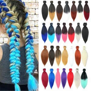 African Pigtail Braided False Hair Extension 20 Inch Medium Length Gradient Straight Hair Synthetic Hair Wholesale