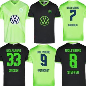 Taille S-2XL 2020 VfL Wolfsburg Weghorst Green Home Away Mens Football STEFFEN Brekalo Wolfsburg Football Shirt Jersey uniforme 2021