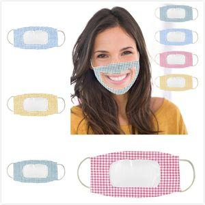 Yeni Tasarımcı Yüz Temizle Pencere Görünür Pamuk Ağız Yüz Maskeleri yıkanabilir Ve Yeniden kullanılabilir Maske ile sağır ve dilsiz dudaklar için Koruma maske