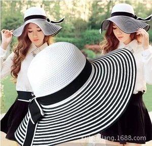 Kleiner Duft New Sun Sonnenschutz Strand Strand Urlaub Straw fake fake Hut große Krempe Strohhut Falten