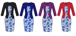 Classic fake two-piece professional women's large size sexy bag hip pencil dress highlights the beautiful curve (giving the belt)