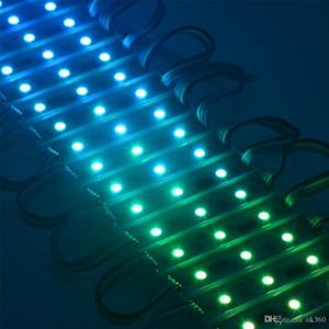 IC Digital LED Module Light WS2801 DMX 3LED DC12V LED Garden Light SMD5050 RGB Waterproof LED Pixel Digital Module String Light