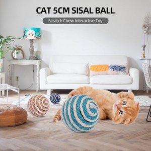 Katzenspielzeug Sisal-Ball 5CM Cat Scratch Chew Interactive Spielzeug für Katzen-Kätzchen Haustier