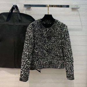 Women Wool Tweed Jacket Short Coats Fashion High Quality All-match Casual Chic O-neck Long Sleeve Cardigan Coat Top