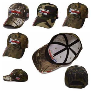 Donald Trump Cap Camouflage 2020 Keep America Great USA Flag Baseball Caps Snapback Hat Embroidery Adjustable Army Cap LJJP145