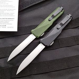 Nueva llegada de la mariposa 4600 Auto cuchillo táctico S30V Stone Wash bajada de un punto de la hoja CNC 6061-T6 de la manija de la EDC cuchillos con bolsa de nylon