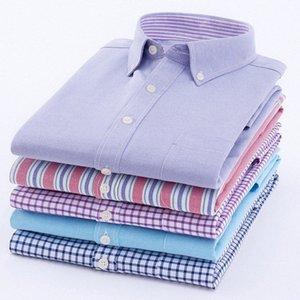 HOWDFEO nuovi uomini di 2019 Camicie Fashion Casual manica lunga maschio sottile Mens di vestito da affari camicia di cotone morbido comodo FgUw #