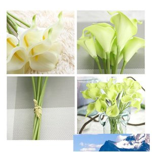 PU Calla Lily Artificial Flower Real Touch Calla Party Wedding Decorations Home Living Room Simulation Calla Flower