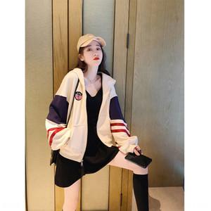 короткое пальто осень JuV5F Женские потерять Корейский Стиль Baseball костюм спортивной Короткие пальто спортивные рубашки 2020 новый тонкий бейсбол костюм все-Match SPO