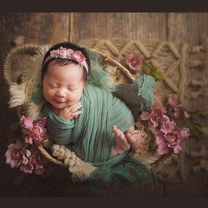 DonJudy New recém-nascido Fotografia Props Handwoven juta Cesta Cobertor Fotografia bebê Sessão Fotográfica Acessórios