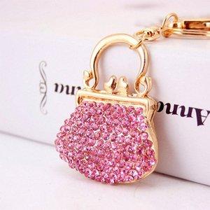 XDPQQ creativo lustro strass portachiavi Cute Pink Lady Handbag Portachiavi auto di personalità di stile cassa chiave del regalo regalo di gestione delle password CELP #